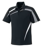 Custom Mens Performance Polyester Pique Color-Block Polo