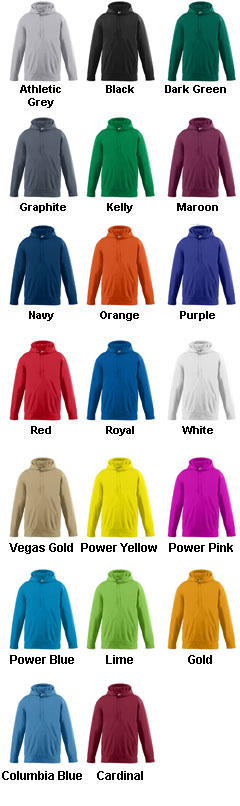 Adult Wicking Fleece Hooded Sweatshirt - All Colors