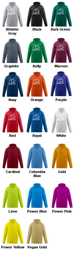 Youth Wicking Fleece Hooded Sweatshirt - All Colors