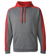 J America  Polyester Fleece Hooded Pullover