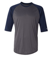 Badger 3/4 Sleeve Moisture Wicking Baseball Shirt