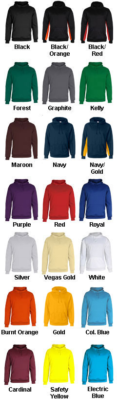 Badger Adult Moisture Management Hooded Sweatshirt - All Colors