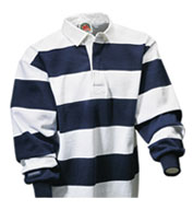 Custom Long Sleeve Striped Custom Rugby Shirt