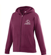 Custom Girls Wicking Fleece Full Zip Hooded Sweatshirt