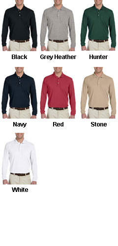 Harriton 5.6 oz. Easy Blend Long-Sleeve Polo - All Colors