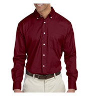 Chestnut Hill Mens Long-Sleeve Twill Dress Shirt