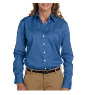 Custom Chestnut Hill Ladies Long-Sleeve Twill Dress Shirt