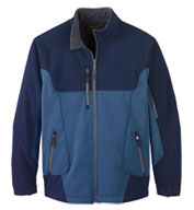 Mens Color-Block Soft Shell Jacket