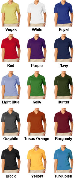 Ladies Moisture Wicking Polo with Scotchgard Protection - All Colors