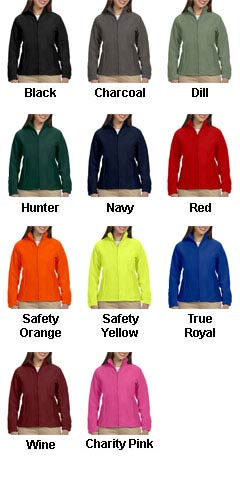 Ladies 8 oz. Full-Zip Fleece - All Colors