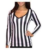 Custom Brightline Ladies Long Sleeve V-Neck Referee Tee