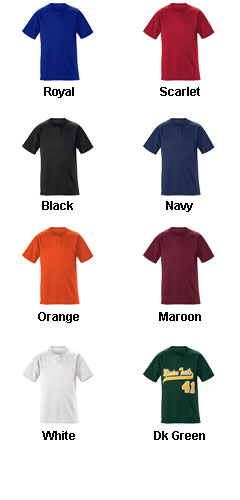 Adult Slugger Solid 2-Button Baseball Jersey - All Colors
