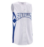 Custom Womens Supernova Sleeveless Faux Full Button Softball Jersey