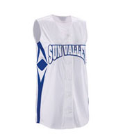 Custom Girls Supernova Sleeveless Faux Full Button Softball Jersey