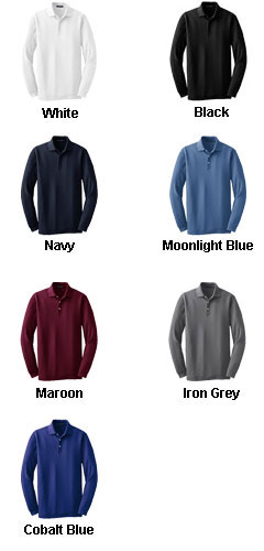 Long Sleeve EZCotton� Pique Polo - All Colors