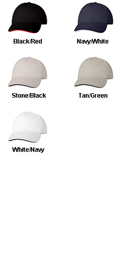 Bayside Unstructured Washed Sandwich Cap - All Colors