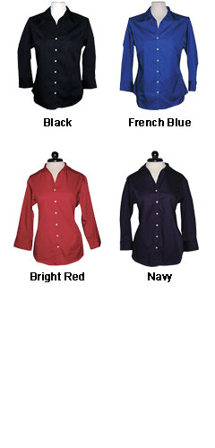 Ladies Easy Care Long Sleeve Twill Shirt by Jockey - All Colors