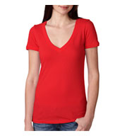 Custom Next Level Ladies Cotton Deep V-Neck T-Shirt