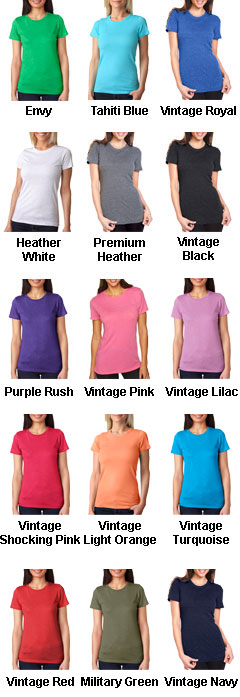 Next Level Ladies Tri-Blend Crew Neck Tee - All Colors