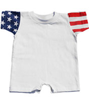 Custom Infant Code V Stars & Stripes Romper