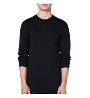 Custom American Apparel Organic Fine Jersey Long Sleeve T-Shirt