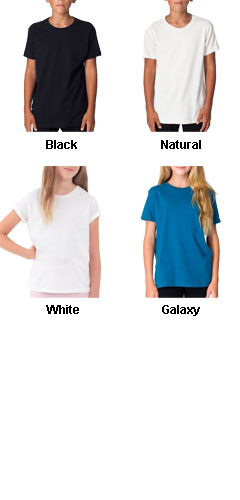 American Apparel Organic Youth Fine Jersey T-Shirt - All Colors