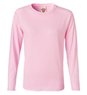 Pigment-Dyed Ladies Long Sleeve T-shirt