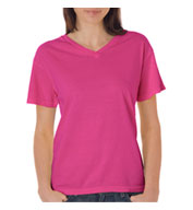 Custom Ladies V-Neck Pigment Dyed Tee