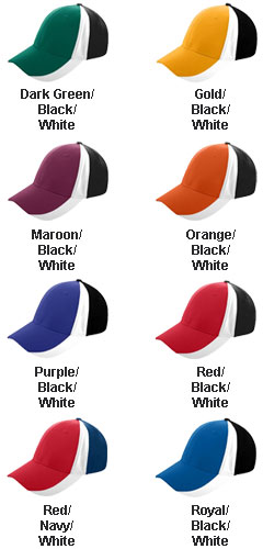 Sport Flex Three-Color Athletic Mesh Cap - All Colors
