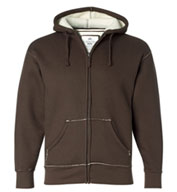 Custom J. America Full-Zip Hooded Thermal with Sherpa Lining