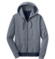 Ladies Mini Stripe Full-Zip Hoodie