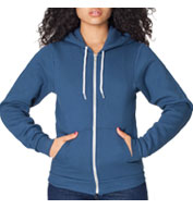 Custom American Apparel Unisex Flex Fleece Full-Zip Hoodie