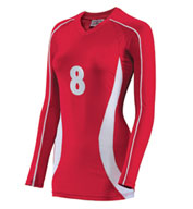 Custom Teamwork Womens Cobra Long Sleeve Volleyball Jersey