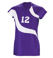 Custom Teamwork Womens Spiral Volleyball Jersey