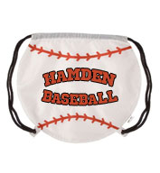 Custom Baseball Drawstring Backpack