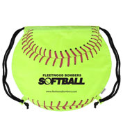 Softball Drawstring Backpack