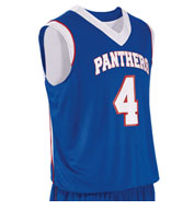 Custom Teamwork Adult Finger Roll Reversible Basketball Jersey Mens