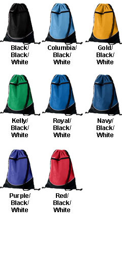 Tri-Color Drawstring Backpack - All Colors
