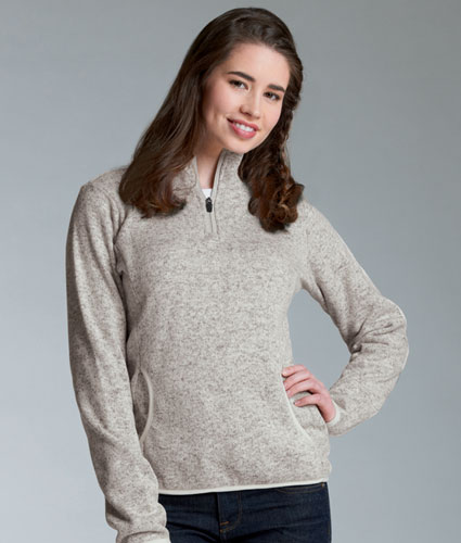 Ladies Soft Heathered Fleece Pullover By Charles River Apparel