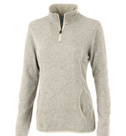 Ladies Heathered Fleece Pullover By Charles River Apparel