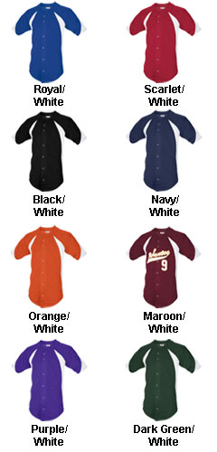Teamwork Adult Mustang Full Button Baseball Jersey - All Colors