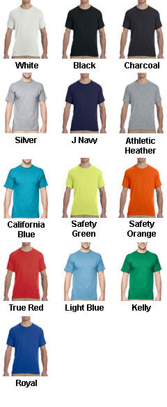 Jerzees 5.3 oz. Spun Polyester Crewneck T-Shirt - All Colors