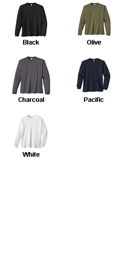 Mens 100% Organic Cotton Classic Long-Sleeve T-Shirt - All Colors