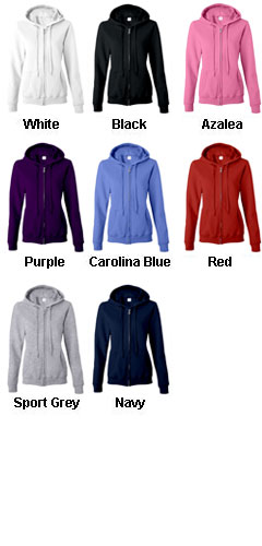 Gildan Heavy Blend Ladies Full Zip Hooded Sweatshirt - All Colors