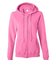 Custom Gildan Heavy Blend Ladies Full Zip Hooded Sweatshirt