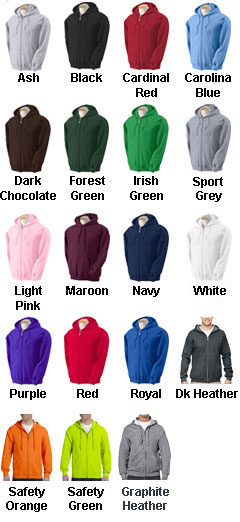 Gildan Heavy Blend Mens Full Zip Hooded Sweatshirt - All Colors