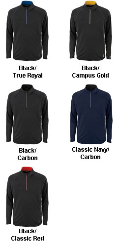 Ash City Mens Half-Zip Performance Long Sleeve Top - All Colors