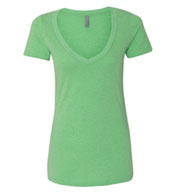 Next Level The Ladies CVC Deep V Tee