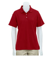 Greg Norman Womens Easy-Care Pique Polo