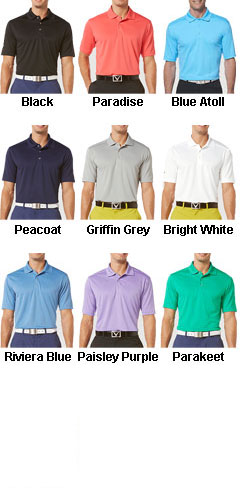 Callaway Adult Micro Pique Chev Polo - All Colors